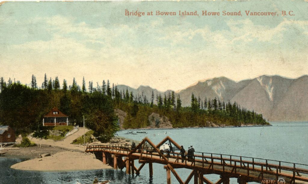 In the early 20th century this wooden bridge replaced the bundled logs that were the first crossing.
